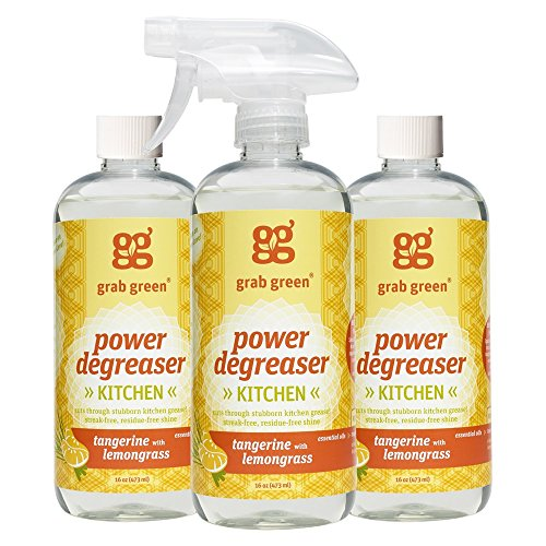 Grab Green Natural Power Degreaser Cleaner, Tangerine with Lemongrass, 16 Ounce (Pack of 3) (Natural Kitchen Cleaner compare prices)