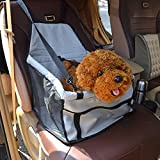 eBelken Portable Car Pet Booster Seat Cover with Clip-On Safety Leash and Zipper Storage Pocket, Dog and Cat Travel Blanket