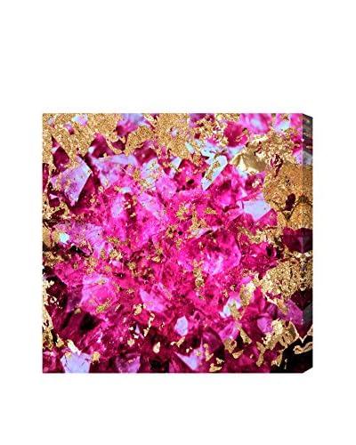 Oliver Gal Neon Geode Canvas Art