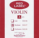 Super Sensitive Red Label 2127 Violin A String, 4/4 Medium
