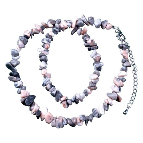 Pugster Rock Color Semi Precious Chip Stone Necklace