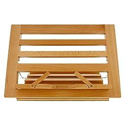 Wooden Reading Rest - Adjustable Holder Book Stand (Bookstand / Bookstands / Holder / Cookbook / Music) (Wood)