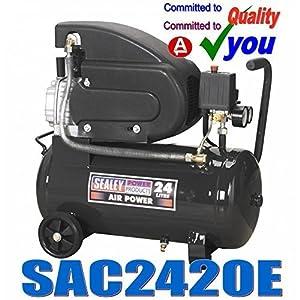 Sealey SAC2420E Compressor Direct Drive, 2 hp, 24 Liter