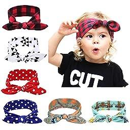 Itaar Baby Headbands Elastic Rabbit Ears Headdress Girl\'s Soft Turban Knot
