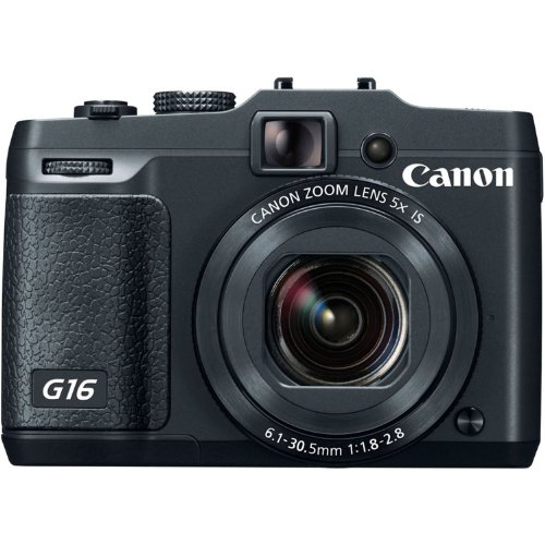 Canon PowerShot G16 Digital Camera w/ 12.1 MP 1/1.7 Inch Sensor &  Wi-Fi Enabled
