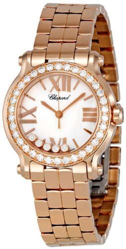 Chopard Happy Sport 18k Rose Gold Diamond Ladies Watch 274189-5007