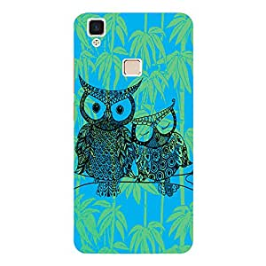 Owl - Mobile Back Case Cover For Vivo V3 Max