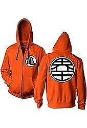 Dragon Ball Z Kame Symbol Orange Zip-Up Adult Hoodie Sweatshirt (Adult XX-Large)