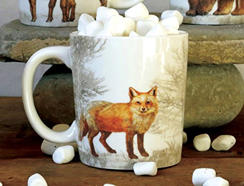 Ceramic Stoneware Fox Mug, 12 oz
