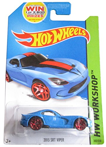 Hot Wheels 2014 Release Blue 2013 SRT Viper From the Workshop Series Die-cast, Hot Wheels Dodge Viper Die-cast - 1