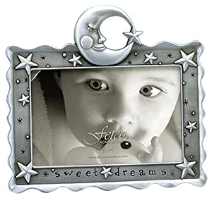 Fetco Home Décor Celestial Frame, 6 by 4-Inch, Pewter