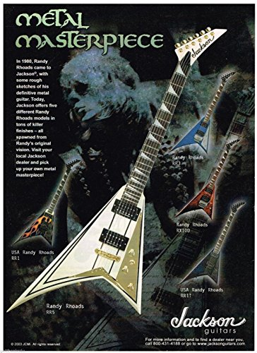 Jackson Guitars - RR3 - RX100 - RR5 - RR1 - RR1T - Randy Rhoads - 2003 Advertisement