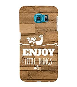 EPICCASE happiness quotes Mobile Back Case Cover For Samsung Galaxy S6 (Designer Case)
