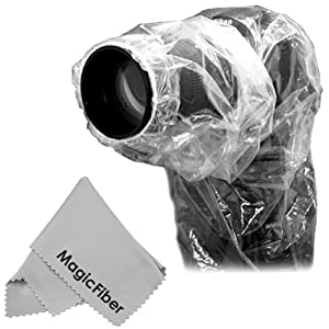 3 Pcs Kit For NIKON CANON OLYMPUS, 2X Super Rain Dust Cover Rainsleeve for Digital & Film Cameras with Lenses up to 6.9