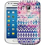 Nouveau Lotties dur coque pour le Samsung Galaxy TREND S7560 Aztèque avec motif Vintage - Retro