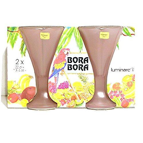 ARC - Flûtes à Glaces x 2 verre ROSE givré BORA BORA*