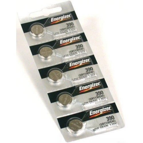 Energizer 389 Button Cell Silver Oxide Sr1130W Watch Battery Pack Of 5 Batteries