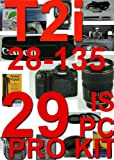 Canon T2I / 550D 29 Piece Pro Deluxe Kit With Canon 28-135mm ,5 Years Extended warranty , 16GB card +++