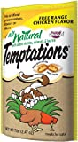 All Natural Temptations Free Range Chicken Flavor Treats for Cats, 2.47-Ounce Pouches (Pack of 12)