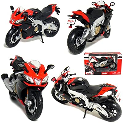 Maisto 1/12 Motorcycle Collection: Aprilia RSV4 Factory Racing Black.
