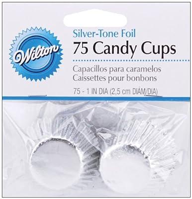 Wilton Bon Bon Baking Cups: Silver Foil, 75/Pkg.