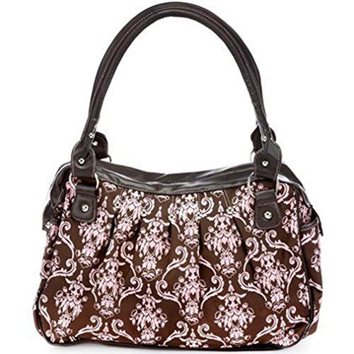 Baby Essentials Brown & Pink Victorian Print Bag - 1