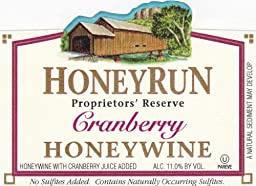 NV HoneyRun Winery Cranberry Honeywine 750 mL