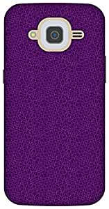 The Racoon Lean printed designer hard back mobile phone case cover for Samsung Galaxy J2 (2016). (Mesh Purpl)