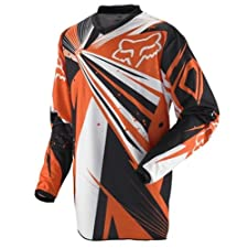 Fox Racing HC Undertow Youth Boys MX/Off-Road/Dirt Bike Motorcycle Jersey - Orange / X-Large