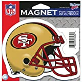 San Francisco 49ers Official NFL 4.5 inch x 6 inch Car Magnet by Wincraft