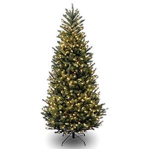 6' Natural Fraser Fir Slim Hinged Tree w - 600 Clear Lights