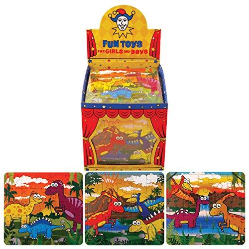12 MINI DINOSAURE PUZZLES (25 PI�CES) - 12 MINI DINOSAUR PUZZLES