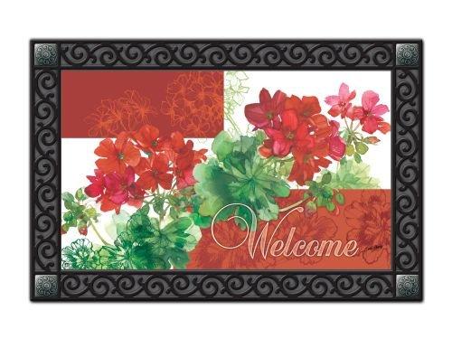 Doormats Mailwraps Geranium Welcome Matmate