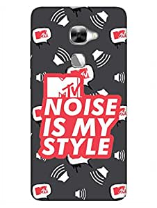 MTV Gone Case - Noise Is My Style - Grey - Hard Back Case Cover for LeEco Le2 - Superior Matte Finish - HD Printed Cases and Covers