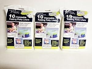 Kalencom Potette on the Go Potty Liner Re-fills 10-pack (Pack 3)