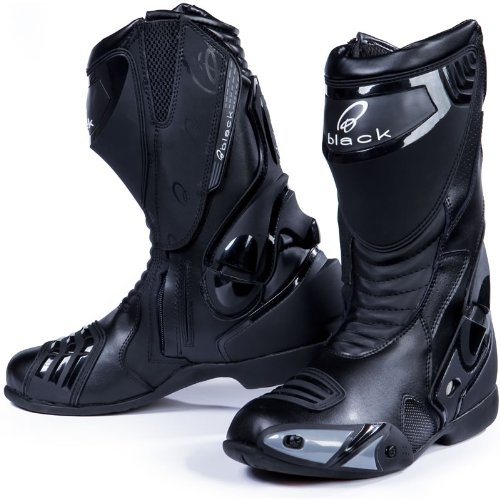 Black Venom Motorcycle Boots 44 Black (UK10)