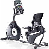 Home Recumbent Bike, Black color, 3 LED tracking light, 3-speed fan, USB port