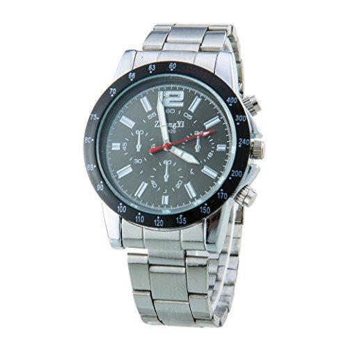 Mens Black Dial Analog Digital Steel Sport Watch