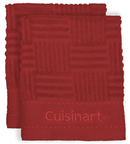 Cuisinart Terry Dish Cloth, Red, 2-Pack