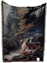 Lonely Vigil Wolf Tapestry Throw WT-RTP287480