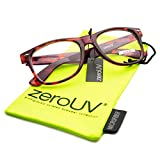 Standard Retro Clear Lens Nerd Geek Assorted Color Horn Rimmed Glasses (TT)