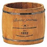 GREENHOUSE ナチュラルウッドプランター 樽L 3078-A-BR ブラウン