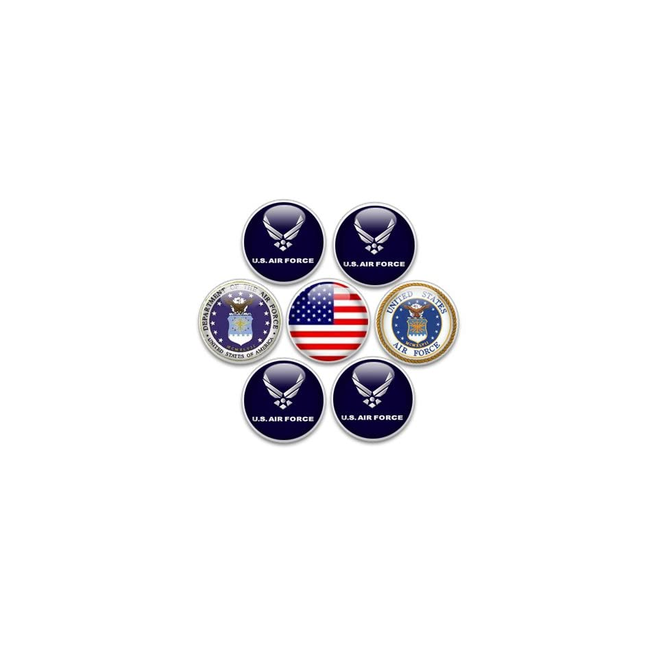 Decorative Push Pins or Magnets 7 Small US Air Force