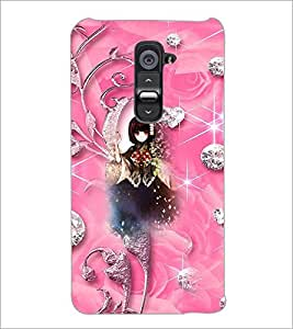 PrintDhaba Cute Girl D-4142 Back Case Cover for LG G2 (Multi-Coloured)