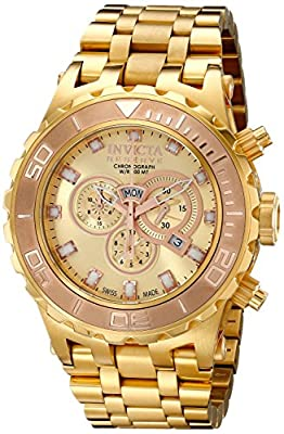 Invicta Men's 14032 Subaqua Analog Display Swiss Quartz Gold Watch