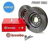Front Brembo MAX Brake Discs - HONDA Civic (VI) 3/4-door 1.6i 16V VTEC (EK4) VTi