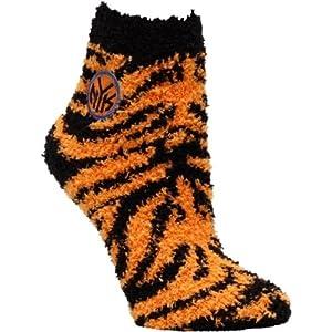 New York Knicks Zebra Stripe Ladies Fuzzy Sleep Sock by For Bare Feet