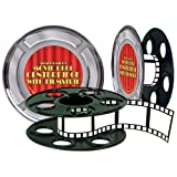 Beistle 50091 Movie Reel with Filmstrip Centerpiece, 9-Inch