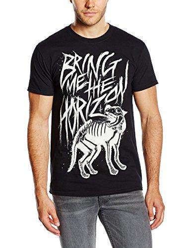 Bring Me The Horizon - Wolf Bones, T-Shirt uomo, Black, Medium (Taglia produttore: Medium)