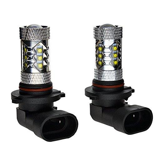 XY-AUTO 9006 HB4 9012 Fog Light LED 80W 7000k Cool White Bulb 800-900Lm 12V-24V Pack of 2